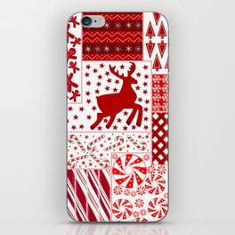 Holiday Red Quilt Design iPhone Skin