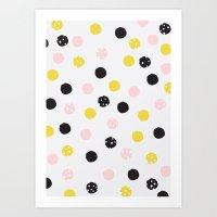 polka dot Art Prints featuring Polka Dot  by Naomi Hadfield