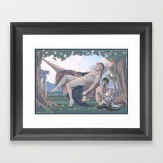 Dionysus and Satyr Framed Art Print