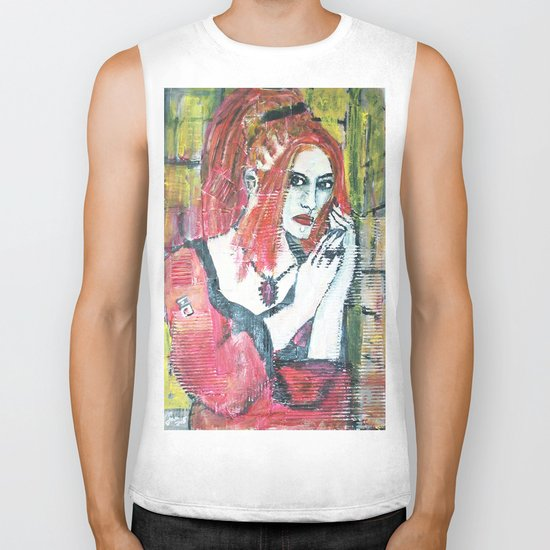 RED HOT GOTH CHICK Biker Tank