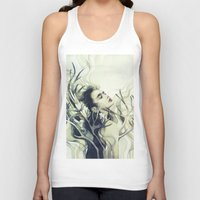 stag Tank Tops featuring Stag by Anna Dittmann