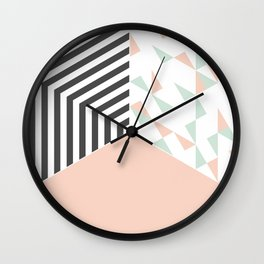 Pink Room #society6 #decor #buyart Wall Clock