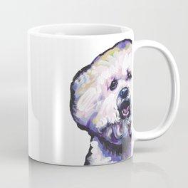 Fun BICHON Frise Portrait Dog bright colorful Pop Art Painting by LEA Coffee Mug