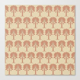 Coral Spice Moods Palm Canvas Print