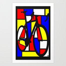 Mondrianesque road bike Art Print