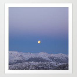 Full Moon Over Whistler Blackcomb | British Columbia, Canada | John Hill Photography Art Print