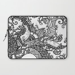 Zen Tree Rebirth White Right Half Laptop Sleeve