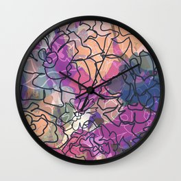 Tapestry Batik Wall Clock