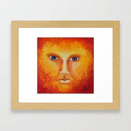 Placid Fire Framed Art Print