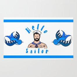 Beard Boy: Hello Sailor Rug