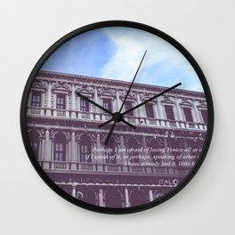 Venetian Architecture Wall Clock