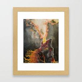 Wolf of Flame Framed Art Print