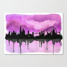 Aubergine London Skyline 2 Canvas Print