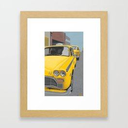 Taxi Stand version 2 Framed Art Print