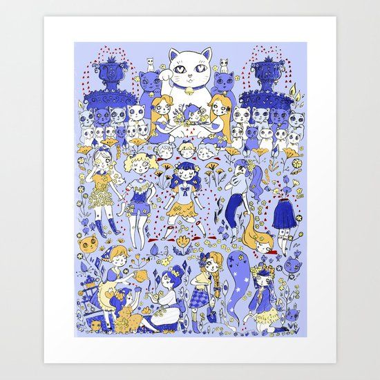 Cute Days in Cute Land Art Print