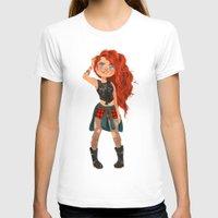pixar T-shirts featuring Modern AU: Merida by Anoosha Syed
