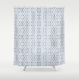 Shibori Diamonds Shower Curtain