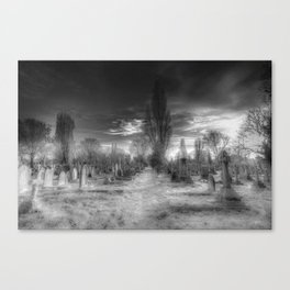 Ghostly Kensal Green Cemetery London Canvas Print