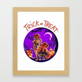 Trick or Treat - Jack 'O' lantern Framed Art Print