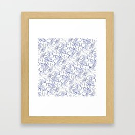 Octopus Pattern Framed Art Print