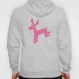 Reindeer-Pink Hoody