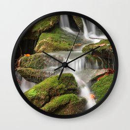 Mossy Rohrbaugh Waterfall Wall Clock