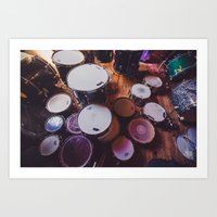 drums Art Prints featuring drums by jered scott