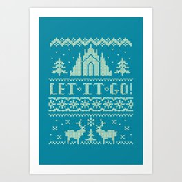 Let It Go Sweater Art Print