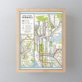 Metro NY Framed Mini Art Print