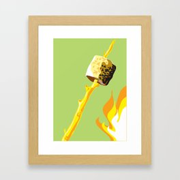 Camping Out - Marshmallow Framed Art Print