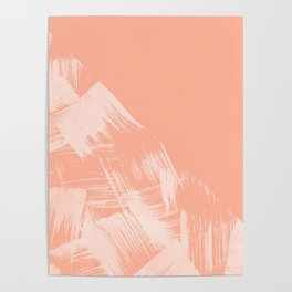 Sweet Life Paint Swipes Peach Coral Pink Poster