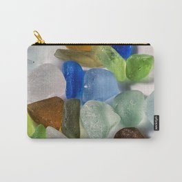 Colorful New England Beach Glass Carry-All Pouch