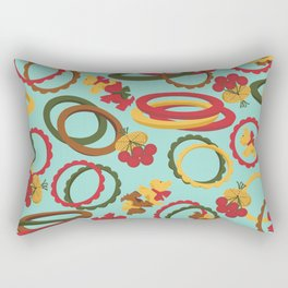 Bakelite Bangles and Brooches Rectangular Pillow