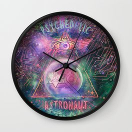 Psychedelic Astronaut  Wall Clock