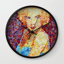 Marilyn In Pixel Wall Clock