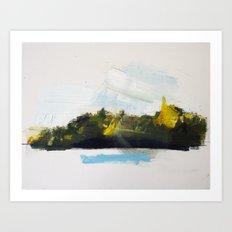 Autumn Island 1 Art Print