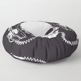 Skull with headphones Floor Pillow