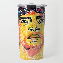 Maradona  Armando Maradona abstract painting || Diego Armando Maradona painting Travel Mug