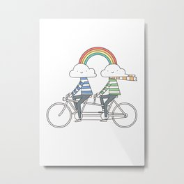 Love makes life a beautiful ride Metal Print