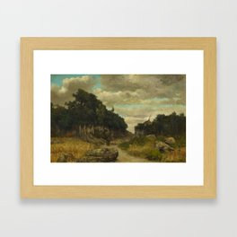 COURBET, GUSTAVE 1819 Ornans - 1877  Landscape in the French Jura. Framed Art Print