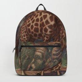 Vintage Giraffe Painting (1909) Backpack