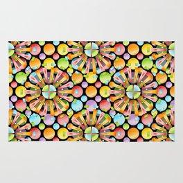 Candy Rainbow Mandala Rug