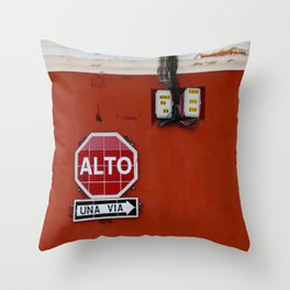 Stop! Throw Pillow