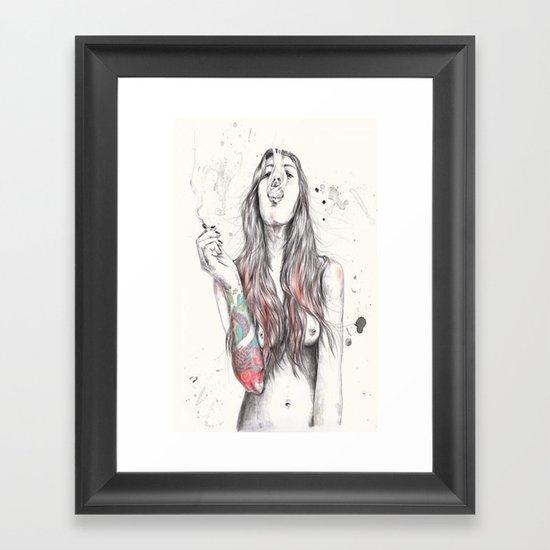 SmkngWomen Framed Art Print