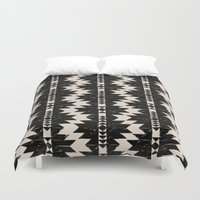 navajo Duvet Covers featuring NAVAJO by bows & arrows
