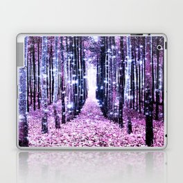 Magical Forest Path Lavender Pink Periwinkle Laptop & iPad Skin