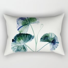 Water lily leaves Rectangular Pillow