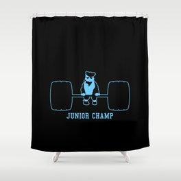Junior Champ Weight Lifter V6S2 Shower Curtain