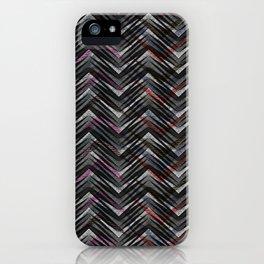 Zigzag pattern 3 iPhone Case