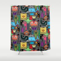monsters Shower Curtains featuring Monsters by Fran Court